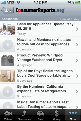 Money-Saving iPhone App #7: Consumer Reports