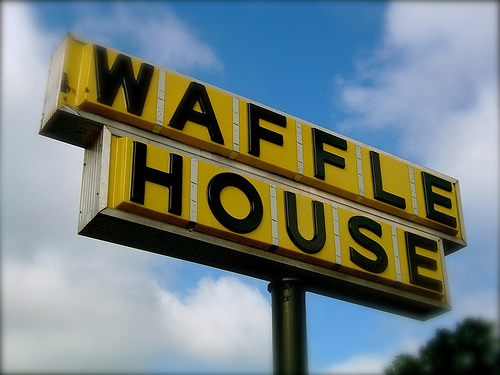 There is not a single Waffle House sign on the planet that looks less dingy than this.