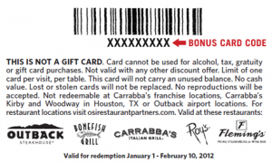 Bonefish grill 20 bonus card with 100 gift card purchase for Bone fish grill coupons