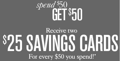 Ann Taylor Loft: (2) $25 Savings Cards When You Spend $50