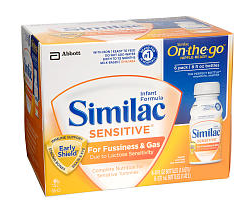 Similac Sensitive 6 Pack – 8 Ounce Bottles: $5