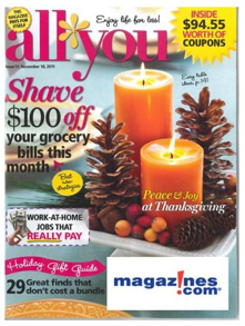 'All You' Magazine Just $0.80 Per Issue