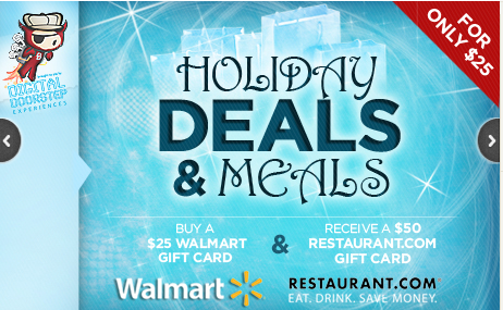 $25 For a $25 Walmart Giftcard + $50 Restaurant.com Gift Certificate ...