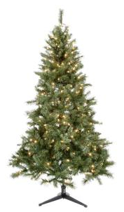 Home Depot: 6.5 Foot Pre-Lit Christmas Tree $21 Shipped Sold Out