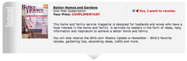 Free Annual Better Homes and Gardens Subscription