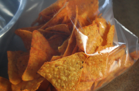 Put-taco-chips-in-a-bag-to-crush-them