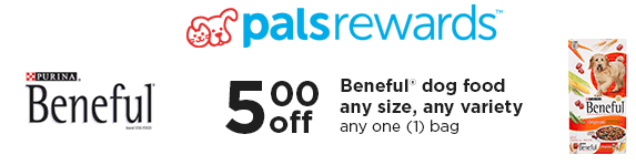 New $5 Off ANY Beneful Dog Food Petco Coupon + Free Can of Friskies or Fancy Feast Coupon