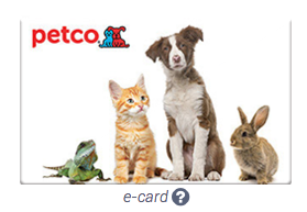 Petco Gift Cards up to 22% Off (+ $5 Off $60 Gift Card Purchases)
