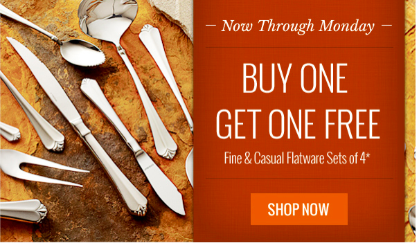 Oneida.com: Buy One Set of Flatware, Get One Set FREE + Additional 20% Off (Marked Down Sets Starting at $7.99 Each!)