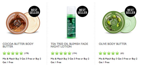 the body shop free shipping no minimum