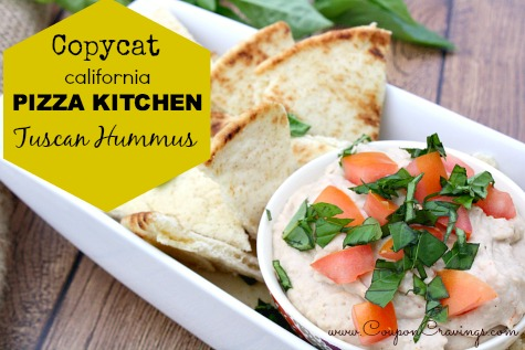 Copycat California Pizza Kitchen Tuscan Hummus Recipe