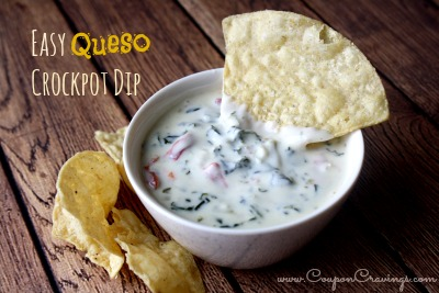 Easy Queso Crockpot Dip Recipe - Coupon Cravings