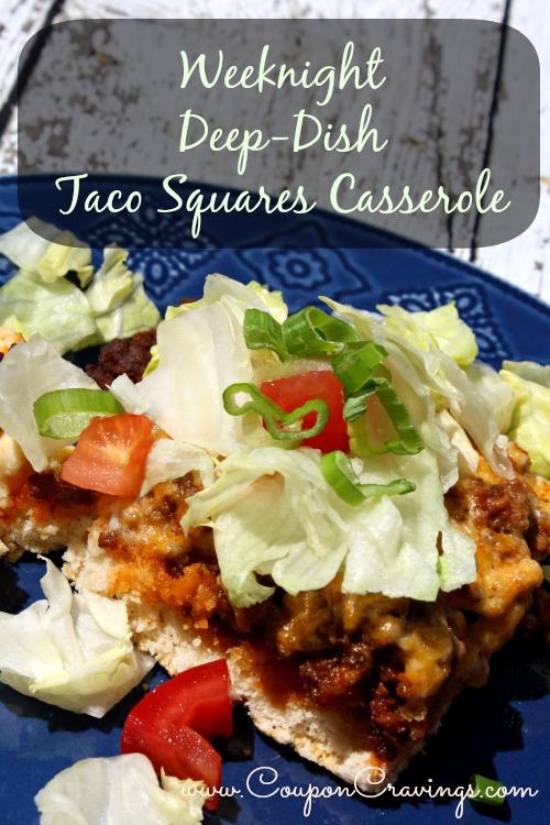 Weeknight Deep-Dish Taco Squares Casserole Recipe