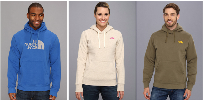 Men's and Women's North Face Hooded Sweatshirts in Various Colors $29.99 + Free Shipping