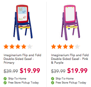 Toys 'R Us: Imaginarium Flip and Fold Double-Sided Easel Only $19.99 + Free In-Store Pickup (Regularly $39.99!)