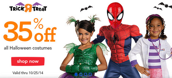 Toys 'R' Us: Save 35% Off Select Halloween Costumes