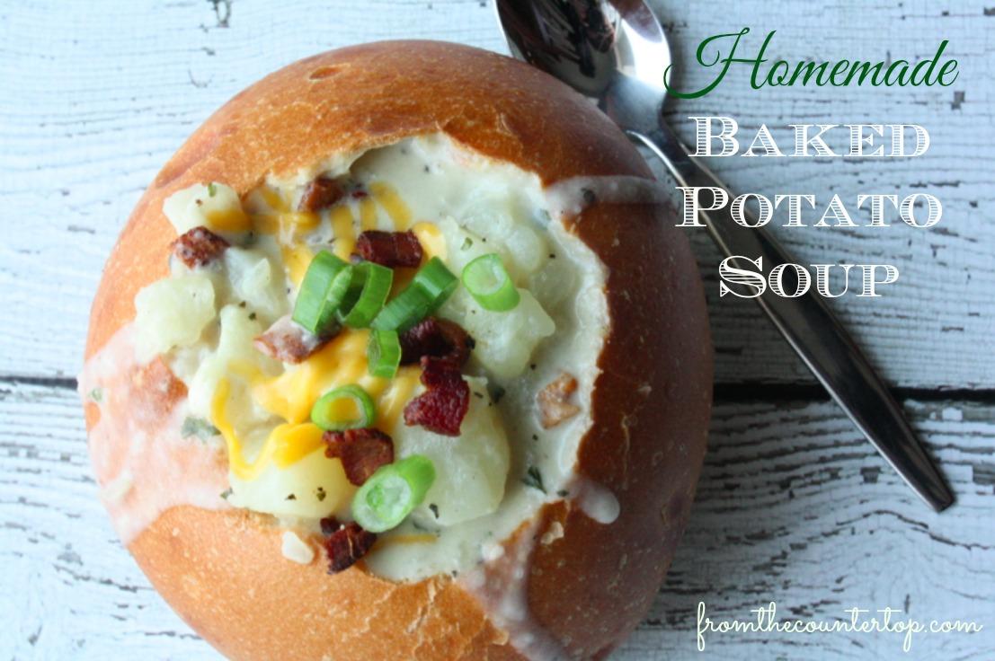 Homemade Baked Potato Soup Recipe -