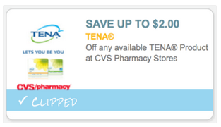 New $2/1 TENA Products Coupon = 2 FREE Packages of Pantiliners at CVS