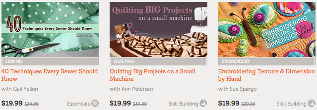 Craftsy Online Classes 50% Off = Learn Quilting, Sewing & More Starting at Only $14.99