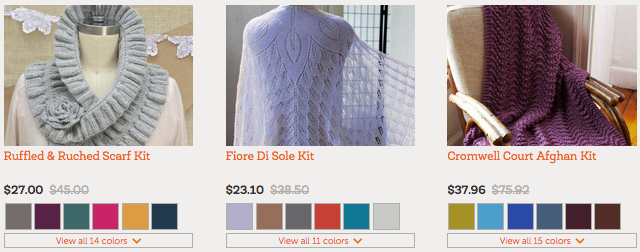 Craftsy: Yarn & Knits Blowout Sale with Prices Starting at $1.40