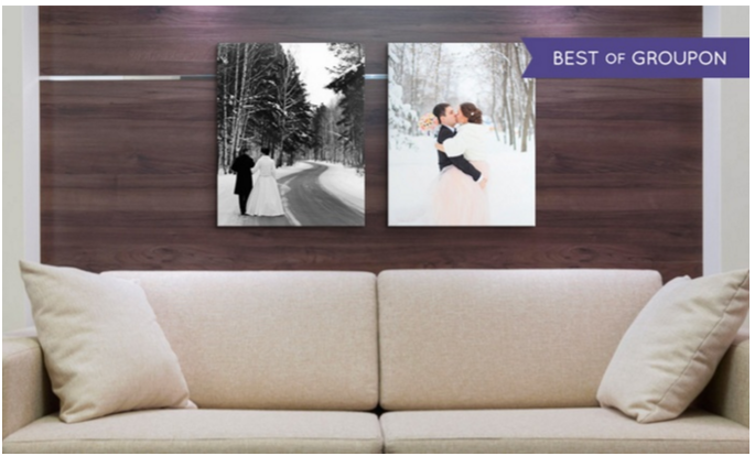 Canvas on Demand: TWO 16″ x 20″ Personalized Premium Canvas Prints ONLY $34.99