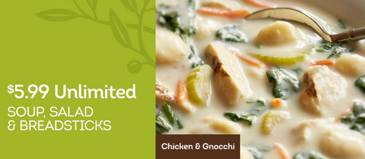 New Olive Garden Restaurant Printable Coupons: $6.99 Unlimited Soup ...