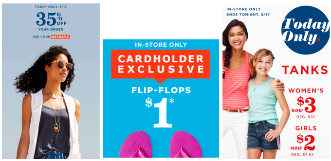 Womens Discount Clothing Sale at Old Navy: $3 Tank Tops, $1 Flip Flops ...