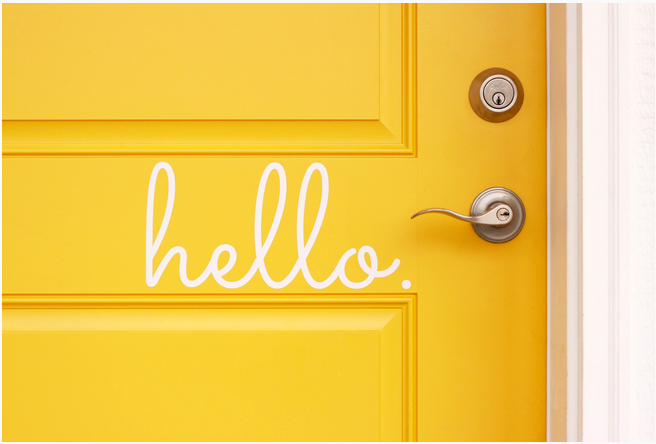 Hello. Vinyl Lettering in Numerous Colors, Only $3.99!