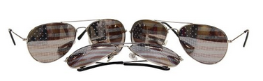 American Flag Aviator Sunglasses, Only $2.84 Each Shipped!