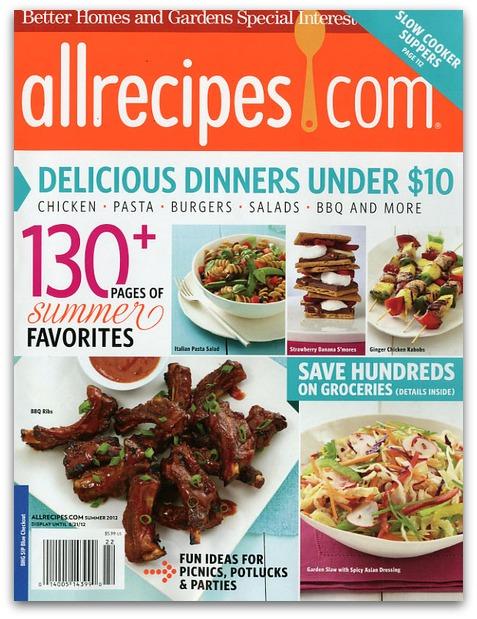 allrecipes magazine coupon