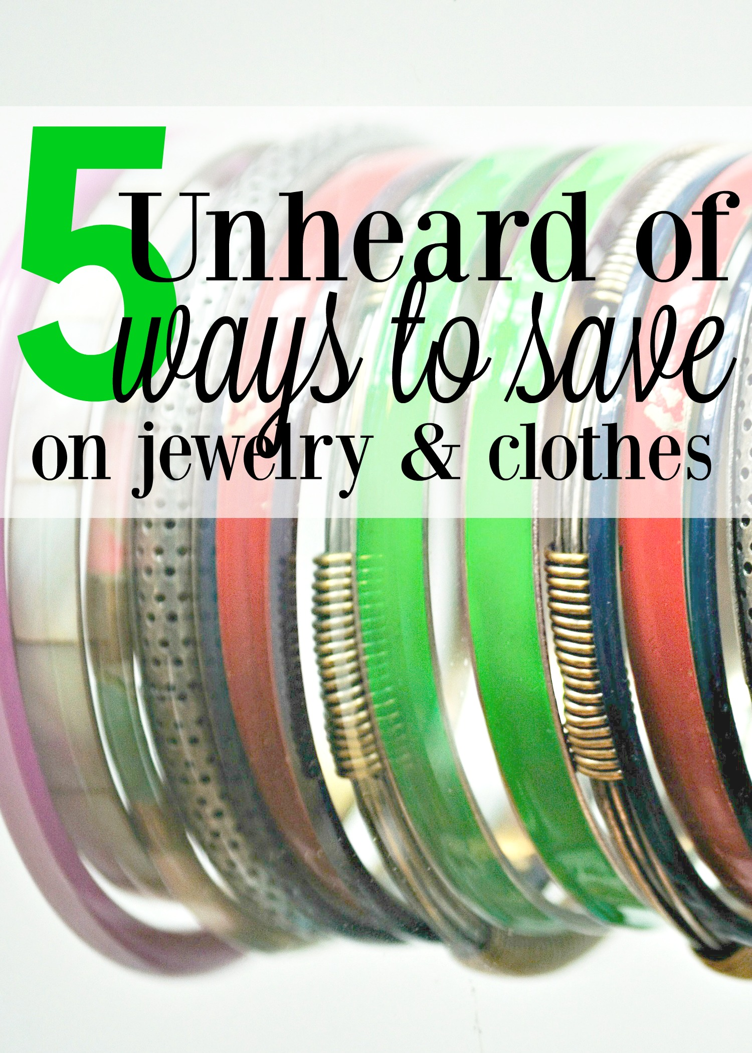 Save big with these 5 ways to go inexpensive on women's jewelry accessories, products and more. I love #2! https://couponcravings.com