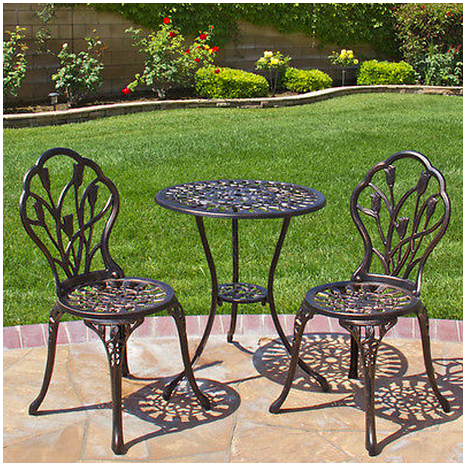 Cast Aluminum Bistro Set, Only $120 Shipped