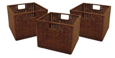 3-ct. Rattan Basket Set, Only $23.36