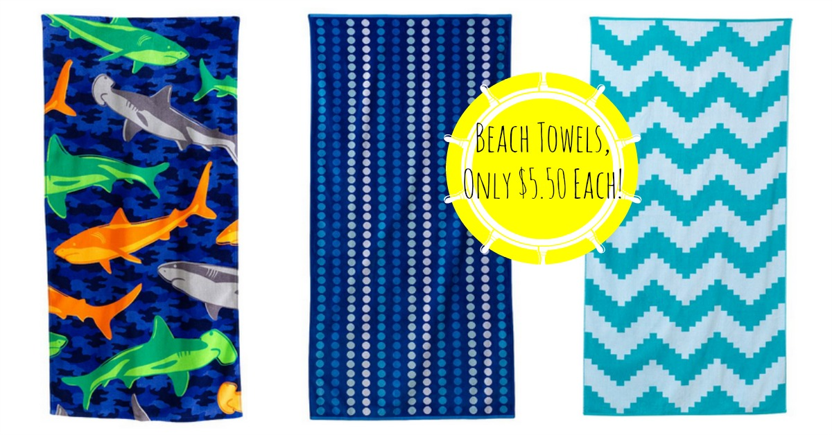 Kohl's: The Big One Beach Towels, Only $5.50 Each!