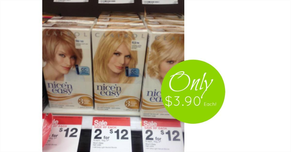 Clairol Nice N Easy Hair Color Only 390 Each Reg 699