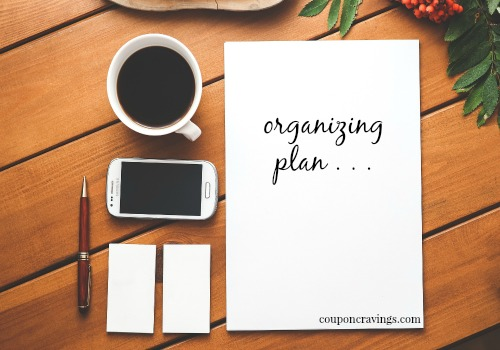 how to begin organizing house