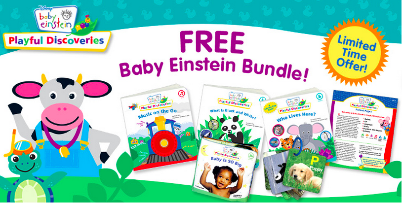 Request 5 Free Baby Items from Baby Einstein! Each items sells for $3.99 on their own so this is a great deal to pick up as a baby gift or a toddler learning tool!