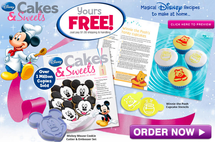 Free things online disney cakes sweets magazine cookie for The thing free online