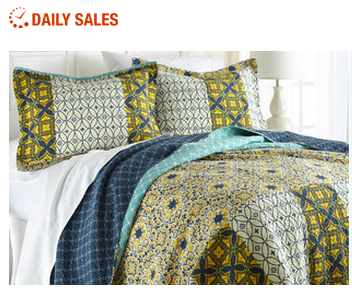 3-Piece Home Decor Coverlet Bedding Set, Only $25.99 & More!
