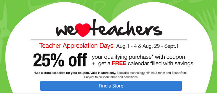 Office Depot In Store Coupons Teachers Save 25 Off Purchases