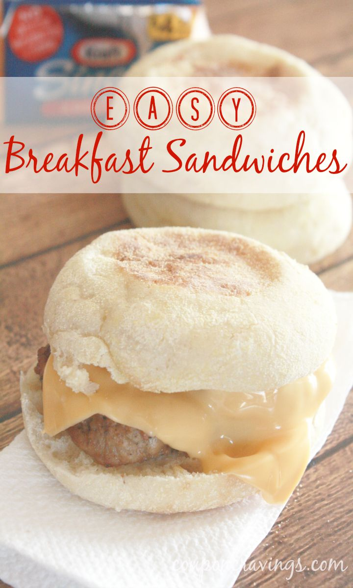 Easy breakfasts for busy mornings are the best! And, with back to school time, any great easy breakfast idea for kids is a welcome one in my book. Our son is getting so much bigger and lunch gets later and later in the day the further into school he gets. Try these easy breakfast sandwiches if you, too are looking for something with a little more substance than cereal. Served with some fruit, this makes for a filling breakfast, too! Simply {read more} http://couponcravings.com/easy-breakfast-sandwich/