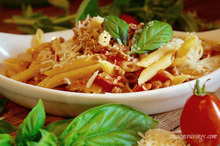 Italian Sausage Meals: Fresh Tomato, Basil and Pecorino Pasta