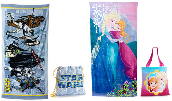 kids towels and bags from kohls