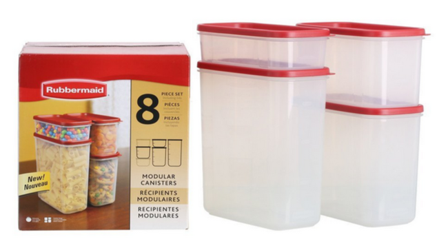 rubbermaid food storage set