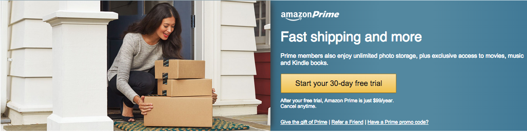 Amazon prime membership on sale