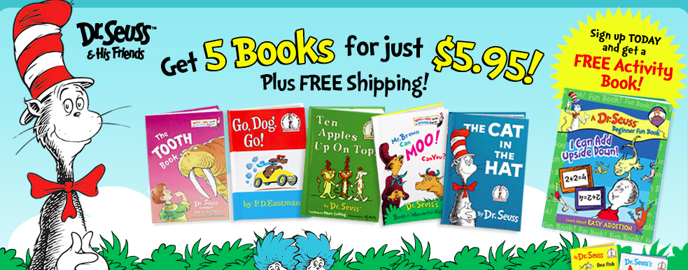 Your registry Amazon Baby Box might include these free Dr Seuss Books
