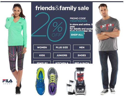 Kohl S Friends Family Sale Extra 20 Off In Store