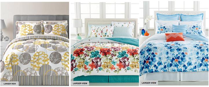 macy 8 piece bed in a bag sets only each reg 100. Black Bedroom Furniture Sets. Home Design Ideas