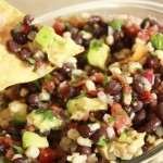 corn and black bean salsa with avocado