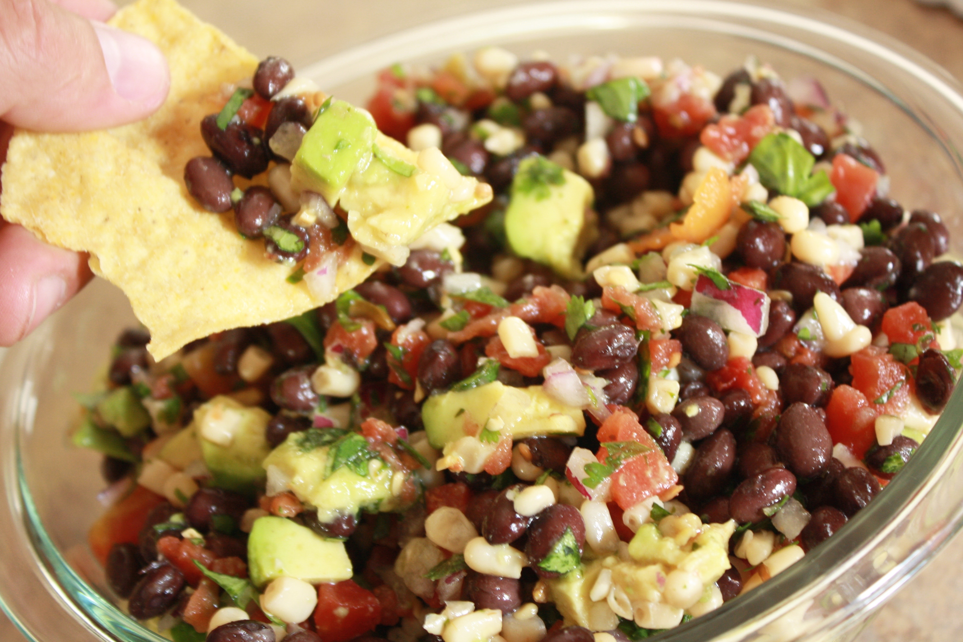 Corn and Black Bean Salsa with Avocado -